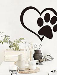 Heart Paw Vinyl Car Sticker Reflective Window Heart Cat Dog Footprints Car Stickers Wall Graphic Sticker