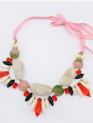 Bohemia Exaggerated Multicolor Silk Beach Choker Necklaces Statement Jewelry