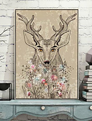 Animal 3D Framed Art Wall Art,PVC Material Brown No Mat With Frame For Home Decoration Frame Art