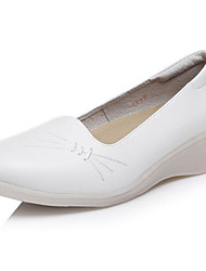 Women's Flats Comfort Pigskin Spring Casual White Flat