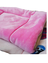 Dog Bed Pet Mats & Pads Solid Butterfly Keep Warm Double-Sided Foldable Soft Random Color