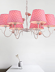 Chandelier  Artistic Country Painting Feature for Designers Metal Bedroom Girls Room Shops/Cafes 6 Bulbs