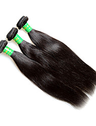 raw 8a indian straight virgin remy human hair extensions weaves 3bundles 300g lot natural black color silk soft texture good quality