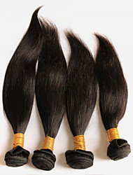 200g/4Pcs  8-28 Peruvian Virgin Natural Straight Hair Natural Black Human Hair Weave Hair Weaves.