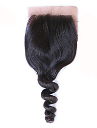 Free Part/Middle Part Silk Base Closure Loose Wave Human Hair Brazilian Remy Hair 3.5x4 Silk Closure Loose Wave