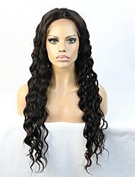 Encadernação de laço perucas de cabelo humano dianteiro com cabelos de cabelo cabelo branqueado onda remy onda