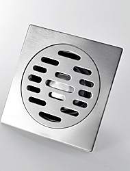 Sus 304 Stainless Steel Square Shower Floor Drain with Removable Strainer