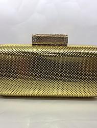 Вечерняя сумочка Полиуретан Замок с защелкой Цвет шампанского Золотой Серебряный
