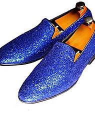 Damen Flache Schuhe Glanz Frühling Gold Silber Blau Flach