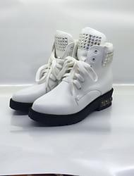 Damen Sneaker Komfort maßgeschneiderte Werkstoffe Frühling Herbst Normal Komfort Strass Flacher Absatz Weiß Pink Flach