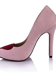 Women's Heels Club Shoes Velvet Summer Office & Career Dress Blushing Pink 4in-4 3/4in
