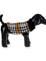 Cane Maglioni Abbigliamento per cani Casual A quadri