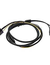 Kkmoon auto 3.5mm aux in interfaccia dell'adattatore del caricatore del cavo dell'automobile del lettore cd per iphone 5 5s 5c 6 6plus per