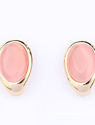 Women's Earrings Opal Unique Design Fashion Personalized Euramerican Gemstone Alloy Oval Jewelry Jewelry ForWedding Party Anniversary
