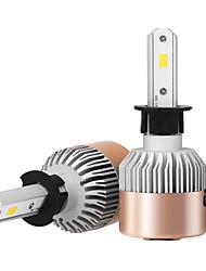 2pcs h3 7200lm kits de conversão de faróis com lâmpadas de faróis bridgelux csp chip