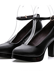 Mujer Tacones Zapatos formales Cuero Primavera Otoño Zapatos formales Tacón Robusto Negro 12 cms y Más