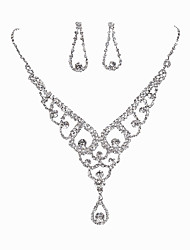 Oval Water Dropped Necklace Set