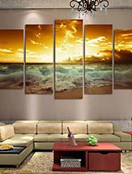 Художественная печать Пейзаж Modern,5 панелей Горизонтальная Печать Искусство Декор стены For Украшение дома