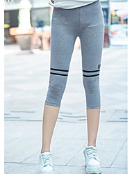 Feminino Color Block Cordão Bordado Legging
