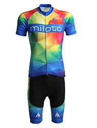 Miloto Maillot de Ciclismo con Shorts Hombre Manga Corta Bicicleta Camiseta/Maillot Shorts/Malla corta Sudadera Sets de Prendas Secado