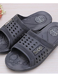 Men's Slippers & Flip-Flops Comfort PVC Leather PP (Polypropylene) Spring Daily Comfort Blue Gray Flat