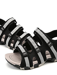 Men's Sandals Comfort Tulle Spring Casual Comfort Gray Black Flat