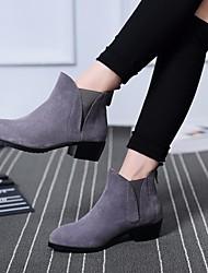 Women's Heels Comfort PU Spring Casual Comfort Dark Grey Black 2in-2 3/4in