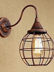 Ferro arte retro ruggine color study lampada da parete americano lampada da parete