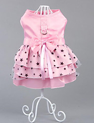 Dog Dress Dog Clothes Party Casual/Daily Birthday Holiday Fashion Wedding Halloween Christmas New Year's Stars Blushing Pink
