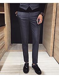 Homme Street Chic Taille Normale Micro-élastique Costume / Tailleur Pantalon,Mince Couleur Pleine