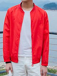 Men's Daily Modern/Comtemporary Summer Jacket,Letter Round Neck Long Sleeve Regular Others