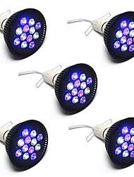 36W E26/E27 Luci LED per la coltivazione PAR38 12 LED ad alta intesità 1850 lm Rosso Blu V 5 pezzi