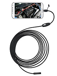 3 in 1 6 LEDs 5.5mm 2M Android Endoscope OTG Micro USB Inspection Camera IP66