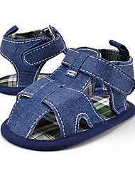 Baby Kids' Sandals First Walkers Fabric Summer Fall Party & Evening Dress Casual Flat Heel Blue White Flat