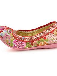Women's Loafers & Slip-Ons Comfort Fabric Spring Summer Casual Comfort Flat Heel Ruby Beige Flat