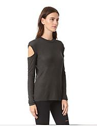ebay AliExpress trade autumn new long-sleeved sweater women's T-shirt bottoming openwork