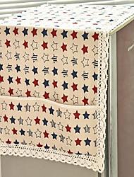 1 Kitchen Storage Box Linen Cloth Dust Cover Bag Random Pattern
