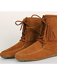 Women's Boots Comfort Suede Spring Casual Brown Yellow Gray Flat