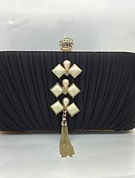 Для женщин Вечерняя сумочка Шёлк Замок с защелкой Золотой Черный Серебряный