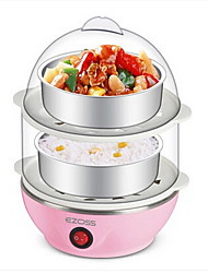 Kitchen Stainless Steel Double-deck Multi-function Egg Cooker Breakfast Machine