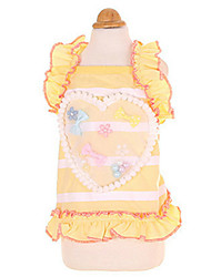 Dress Dog Clothes Purple Yellow Blushing Pink