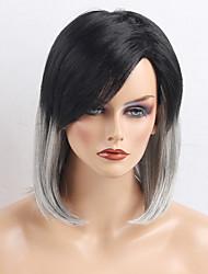 As mais recentes perucas de ombre de cabelo preto preto e preto