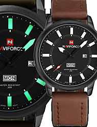 Luxury Brand NAVIFORCE Military Watches Men Quartz Analog Clock Man Leather Sports Watches Army Watch Relogios Masculino Gift Box