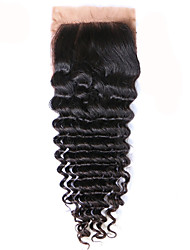 Free Part Middle Part Silk Base Closure Loose Wave Human Hair Brazilian Remy Hair 3.5x4 Silk Closure Loose Wave