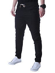 Men's High Rise strenchy Sweatpants Pants,Chinoiserie Skinny Solid