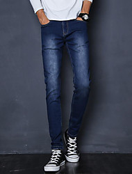 Homme Street Chic Taille Normale strenchy Jeans Pantalon,Mince