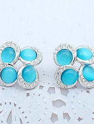 Women's Earrings Opal Fashion Personalized Euramerican Gemstone Alloy Jewelry Jewelry For Wedding Party Anniversary