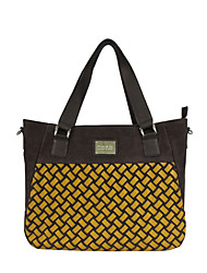 Ms. Kate&Co. fashion leather woven computer bag TH-02058 coffee 14 inches