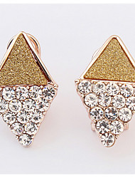 Euramerican  Elegant  Luxury  Rhinestones  Women's  Office & Career Ear Clips Movie Jewelry