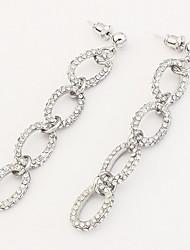 Euramerican Fashion  Chain Silver Rhinestone  Women's  Casual  Earrings Statement Jewelry